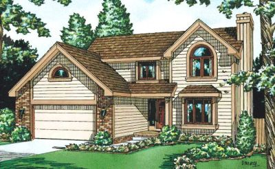 Traditional Style Home Design Plan: 10-972