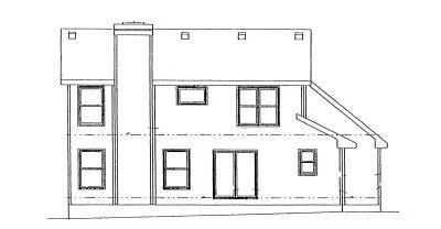 Rear Elevation Plan: 10-974