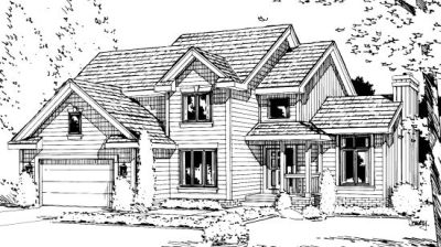 Traditional Style Home Design Plan: 10-977