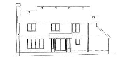 Rear Elevation Plan: 10-980