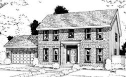 Early-American Style House Plans Plan: 10-981