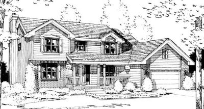 Traditional Style Home Design Plan: 10-982