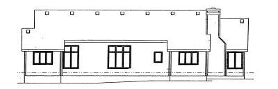Rear Elevation Plan: 10-986