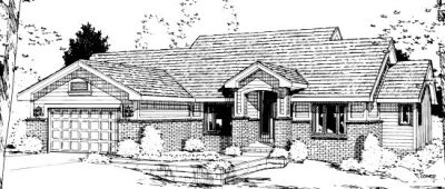 Traditional Style Home Design Plan: 10-987