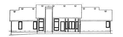 Rear Elevation Plan: 10-987