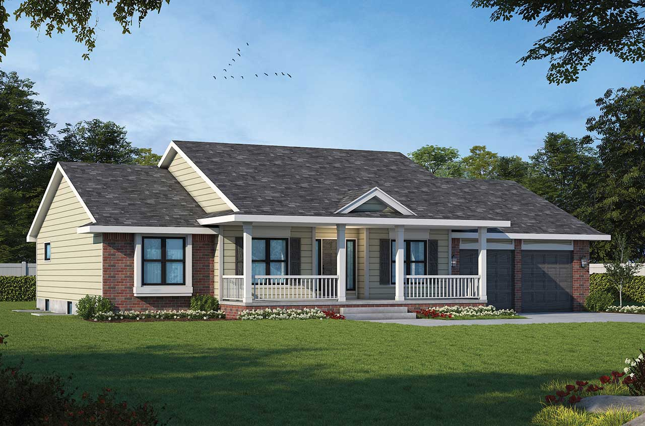 Country Style Floor Plans Plan: 10-988