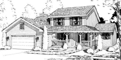 Country Style Floor Plans Plan: 10-989
