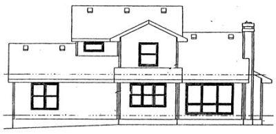 Rear Elevation Plan: 10-989