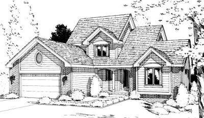 Traditional Style Home Design Plan: 10-992
