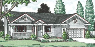 Traditional Style Home Design Plan: 10-995