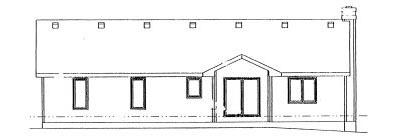 Rear Elevation Plan: 10-995