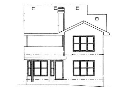 Rear Elevation Plan: 10-997