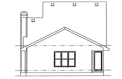 Rear Elevation Plan: 10-998