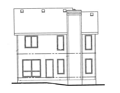 Rear Elevation Plan: 10-999