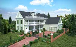 Southern-Colonial Style House Plans Plan: 102-103