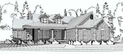 Country Style Home Design Plan: 103-102