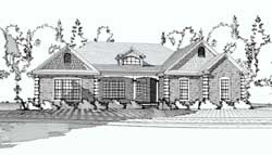 Southern Style Floor Plans Plan: 103-106