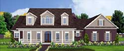 Country Style Home Design Plan: 103-143