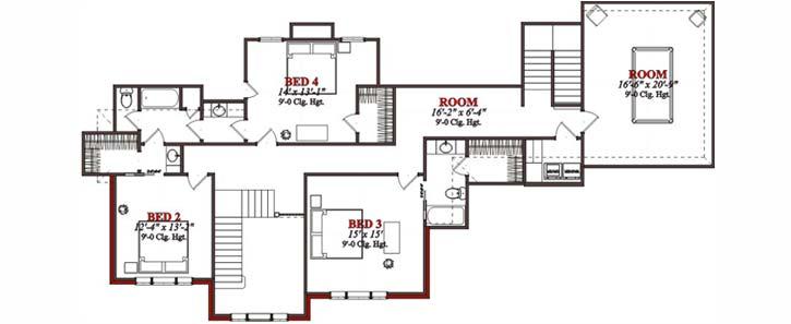 Upper/Second Floor Plan: 103-184