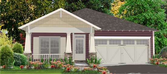 Craftsman Style Home Design Plan: 103-233