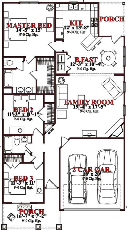 Main Floor Plan: 103-233