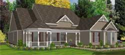 Victorian Style Home Design Plan: 103-256