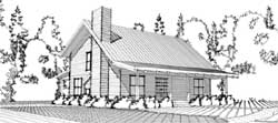 Country Style Home Design Plan: 103-280