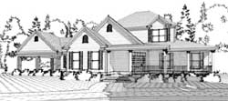 Country Style Home Design Plan: 103-290