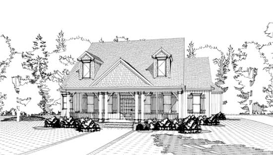 Cottage Style Floor Plans Plan: 103-296
