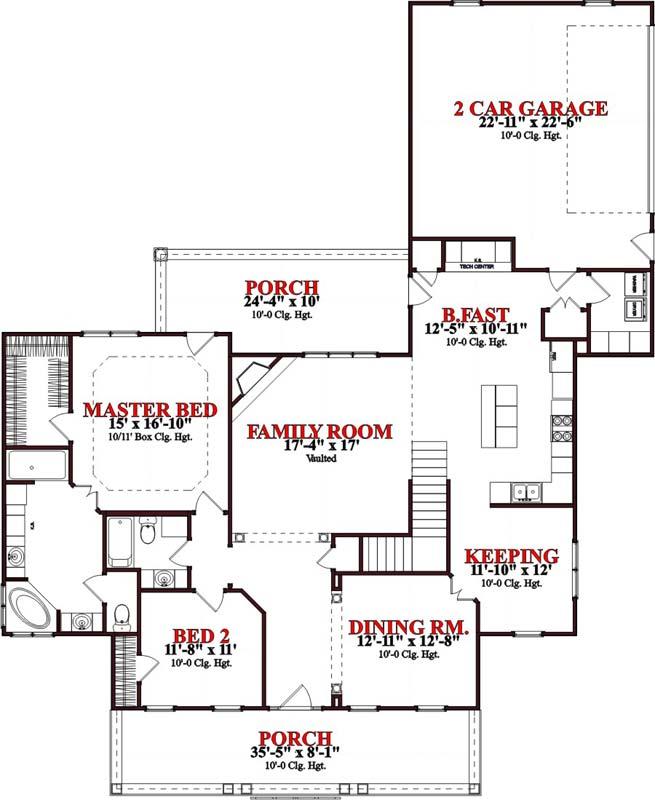 Main Floor Plan: 103-296