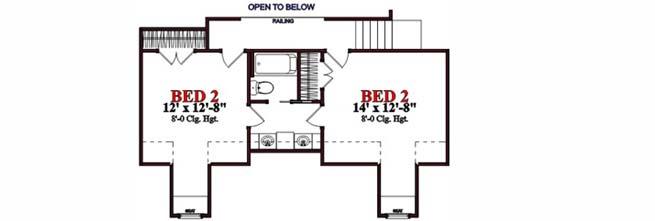 Upper/Second Floor Plan: 103-296