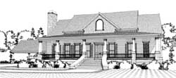 Southern Style House Plans Plan: 103-322