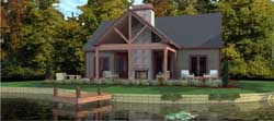 Mountain-or-Rustic Style Floor Plans Plan: 103-345