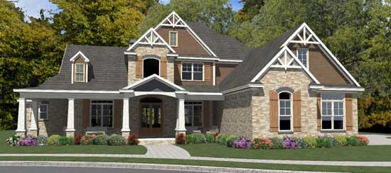 Craftsman Style Home Design 103-360