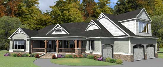 Ranch Style House Plans Plan: 103-361