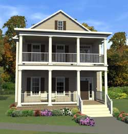 Southern Style Home Design Plan: 103-367