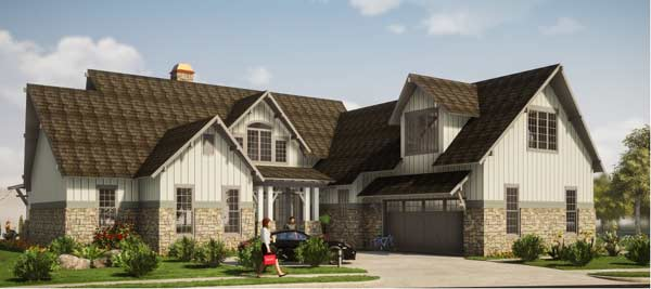 Traditional Style House Plans Plan: 103-372