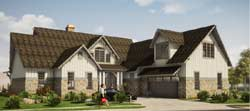 Traditional Style Home Design Plan: 103-372