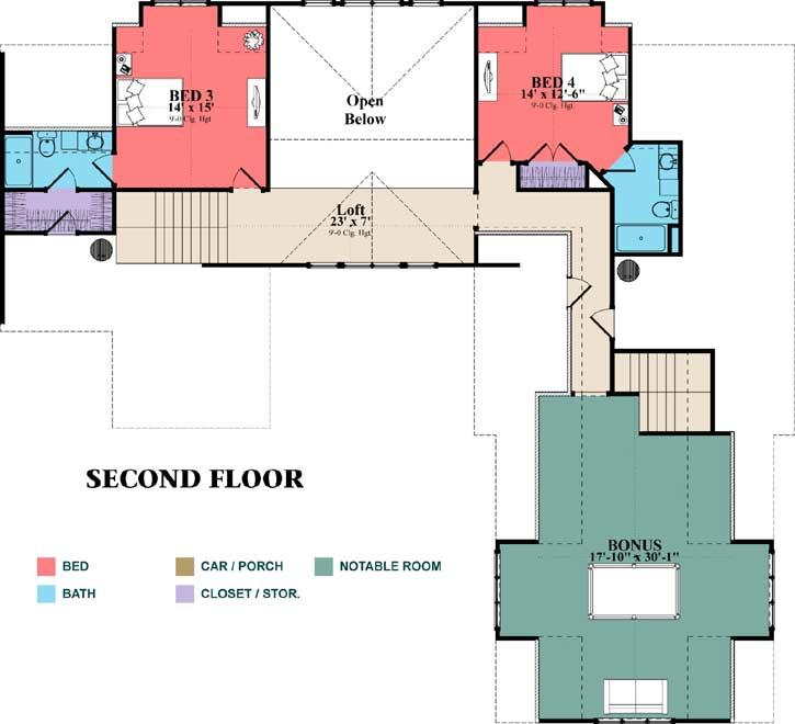 Upper/Second Floor Plan: 103-372