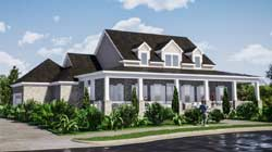 Country Style Home Design Plan: 103-378