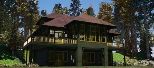 Contemporary Style Home Design Plan: 103-382