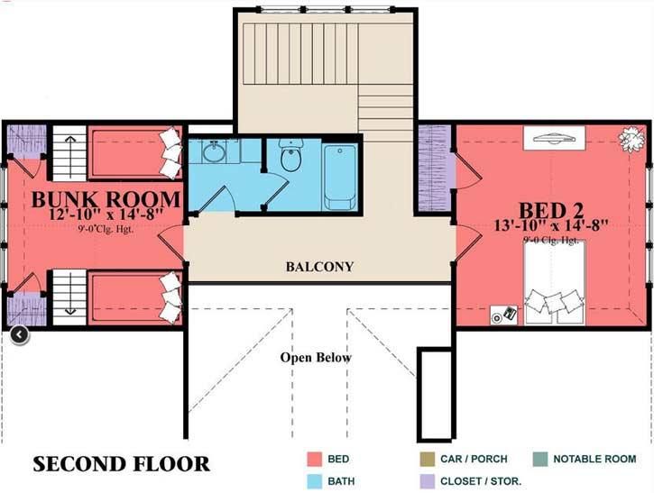 Upper/Second Floor Plan: 103-382
