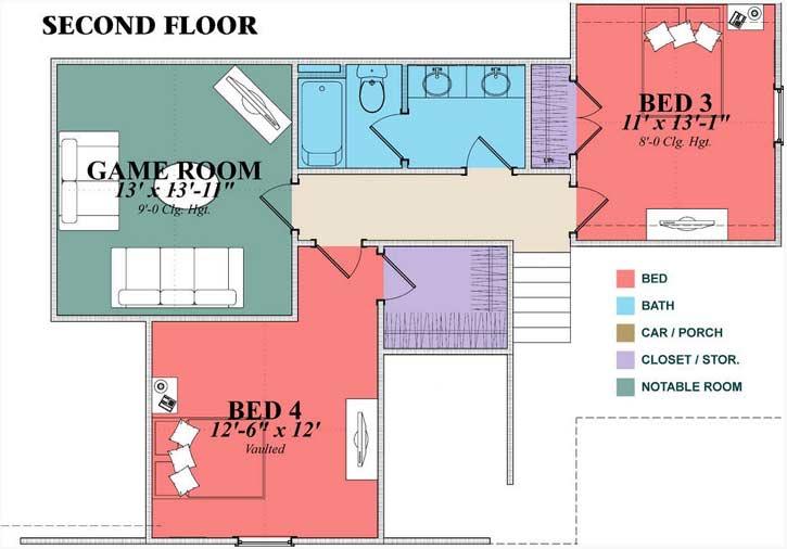 Upper/Second Floor Plan: 103-390