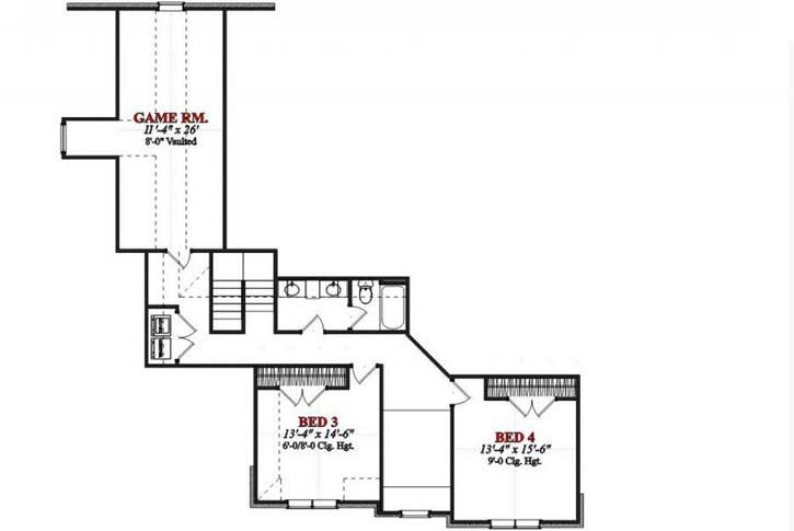 Upper/Second Floor Plan: 103-395