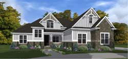 Craftsman Style Home Design Plan: 103-400
