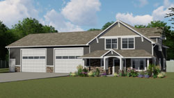 Craftsman Style House Plans Plan: 104-198