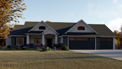 Traditional Style Home Design Plan: 104-205