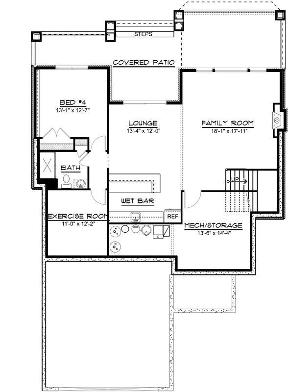 Lower Floor Plan: 104-207