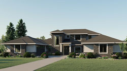 Contemporary Style Floor Plans Plan: 104-212