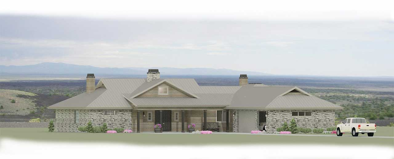 Traditional Style Home Design Plan: 105-103